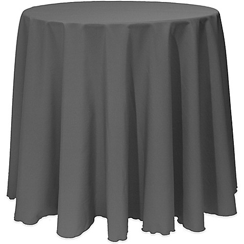 Buy basic 120 inch round tablecloth in charcoal from bed for 120 inch round table cloths
