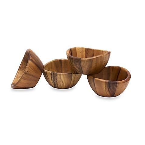 Lipper International Acacia Wave Bowl (Set of 4) at Bed Bath & Beyond in Cypress, TX | Tuggl