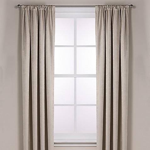 Diamond texture rod pocket room darkening window curtain for Window curtains texture