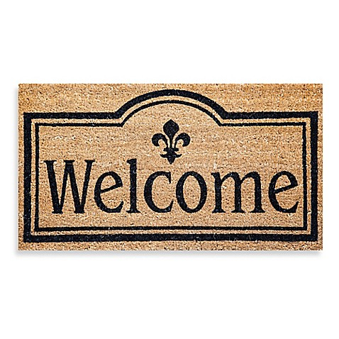 Welcome Coir Door Mat Insert - Bed Bath & Beyond