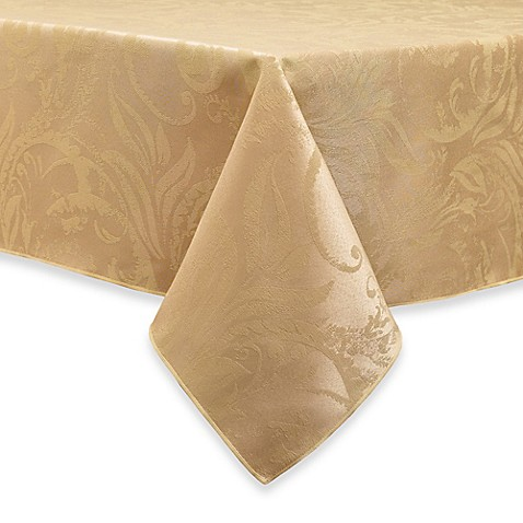Buy Autumn Scroll Damask 60-Inch x 84-Inch Tablecloth in ...