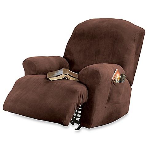 sure fit stretch sterling recliner slipcover in mocha bed bath beyond. Black Bedroom Furniture Sets. Home Design Ideas