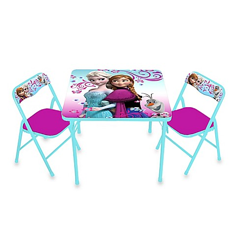Disney 174 Frozen Activity Table And Chair Set Bed Bath