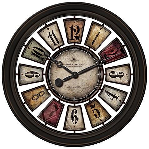 Firstime 174 Numeral Plaques Wall Clock Bedbathandbeyond Com