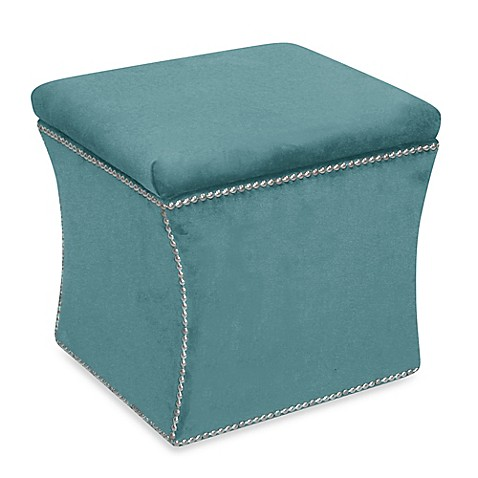 Skyline Furniture Nail Button Storage Ottoman at Bed Bath & Beyond in Cypress, TX | Tuggl