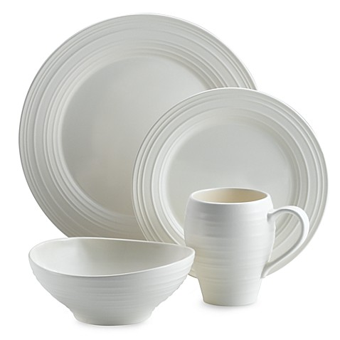 Mikasa® Swirl Dinnerware Collection in White at Bed Bath & Beyond in Cypress, TX | Tuggl