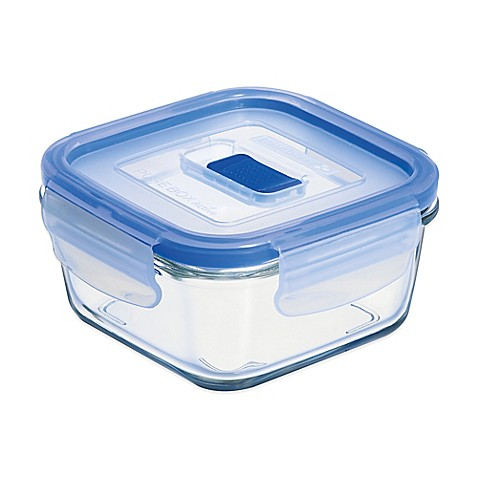 Buy luminarc pure box active 12 9 oz square container for Bathroom containers with lids