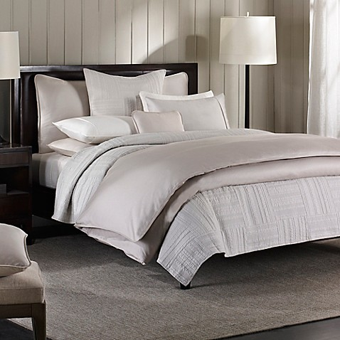 Barbara Barry 174 Moondrops Pique Duvet Cover In Dove Bed