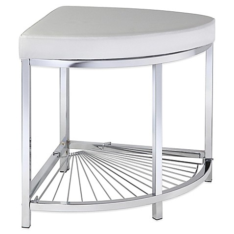 Taymor urban modern corner vanity stool bed bath beyond - Bed bath and beyond bathroom vanity ...
