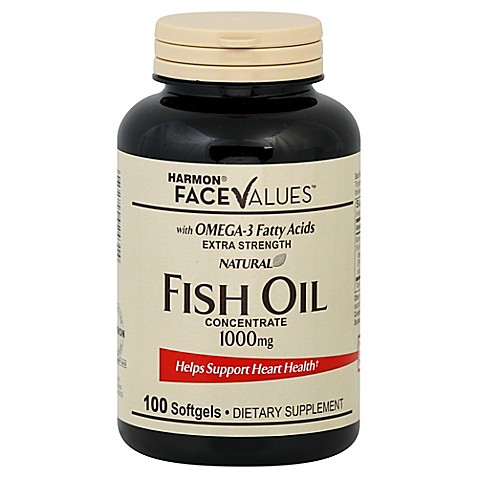 Harmon face values 100 count extra strength natural fish for Fish oil capsules side effects