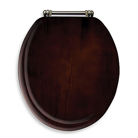 ginsey round toilet seat in wood bed bath beyond