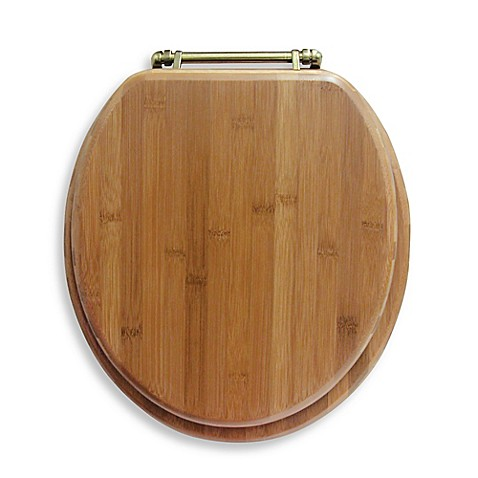 ginsey round bamboo toilet seat bed bath beyond. Black Bedroom Furniture Sets. Home Design Ideas