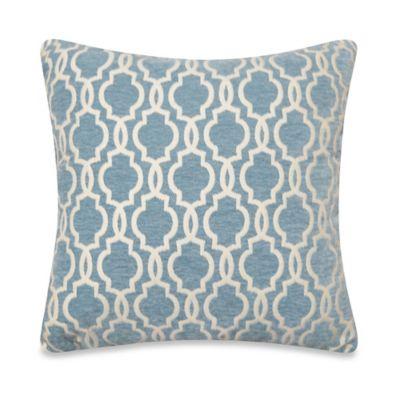 Smoke Blue Throw Pillow : Gwen Tile Square Throw Pillow in Smoke Blue - BedBathandBeyond.com
