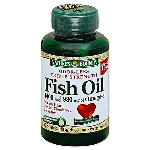 Nature 39 S Bounty 30 Count Triple Strength Fish Oil 1360 Mg