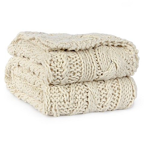 Berkshire Fisherman Hand-Knit Cable Throw   Tuggl