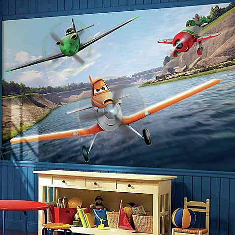 Disney planes chair rail prepasted 10 5 foot x 6 foot for Disney planes wallpaper mural