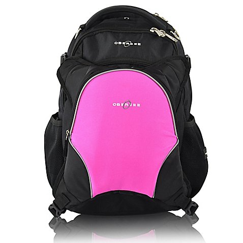 obersee oslo diaper bag backpack with detachable cooler in pink buybuy baby. Black Bedroom Furniture Sets. Home Design Ideas