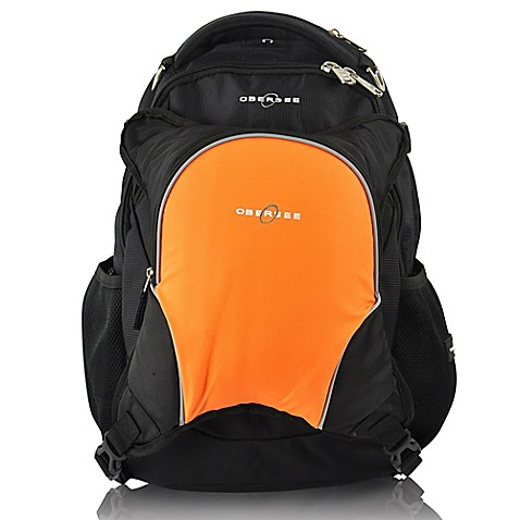 diaper backpacks obersee oslo diaper bag backpack with detachable cooler in black orange from. Black Bedroom Furniture Sets. Home Design Ideas