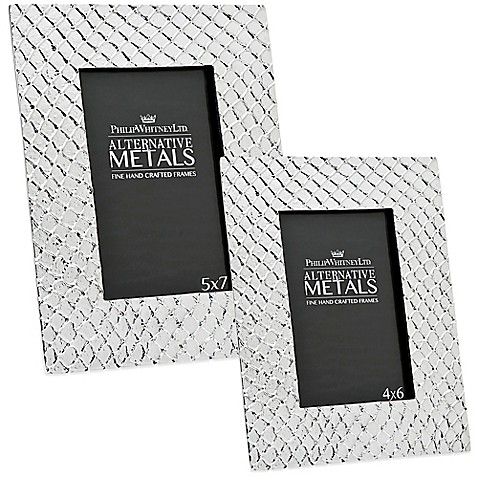 Philip Whitney Alternative Metals Mesh Aluminum Frame at Bed Bath & Beyond in Cypress, TX | Tuggl