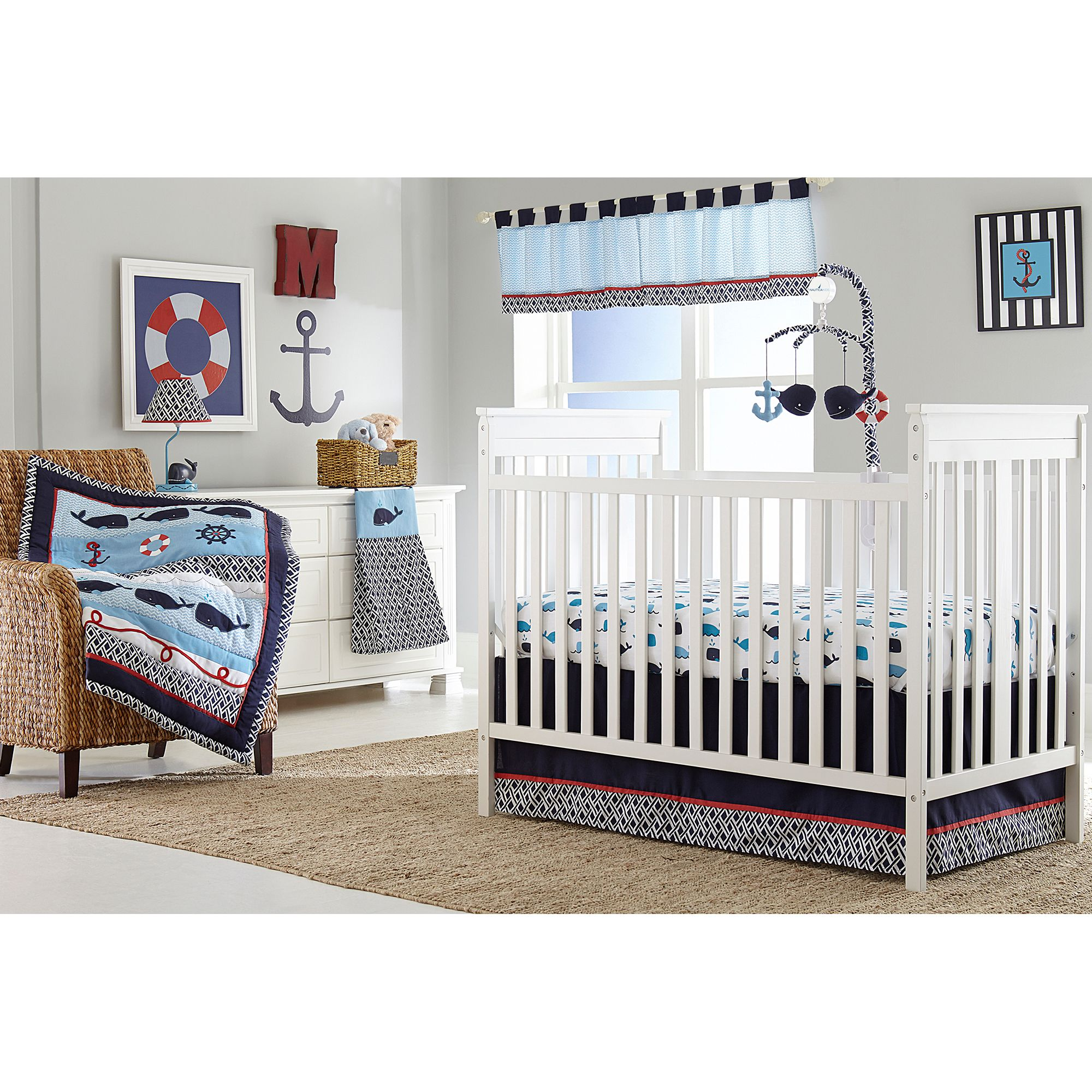Nautica Kids® Whale of a Tale Crib Bedding Collection