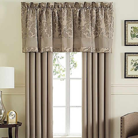 Jeneve Window Curtain Panel Pair And Valance Bed Bath Beyond