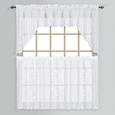 New Rochelle Lace Window Curtain Tier Pairs Bed Bath Beyond