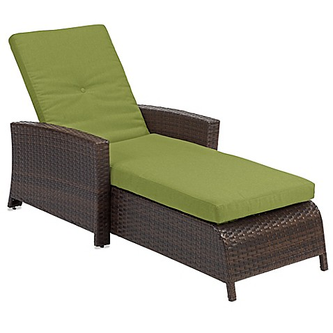 Barrington wicker padded chaise lounge bed bath beyond for Bathroom chaise lounge