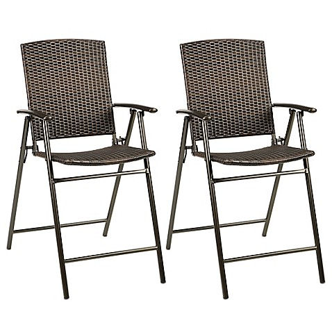 Buy Stratford Wicker Folding Balcony Chair Set Of 2 From