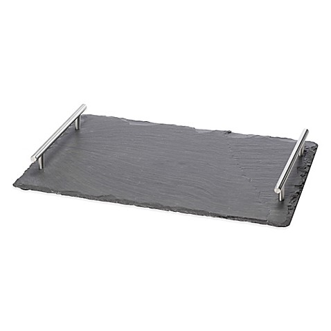 Oenophilia Large Slate Cheese Board with Handles | Tuggl