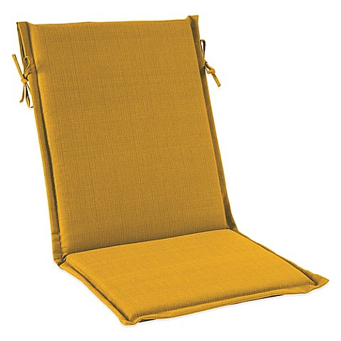 Buy Outdoor Sling Cushion With Ties In Yellow From Bed