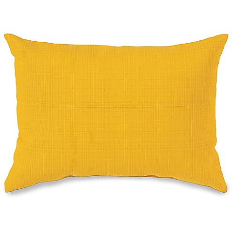 12-Inch x 16-Inch Outdoor Oblong Throw Pillow in Yellow - Bed Bath & Beyond