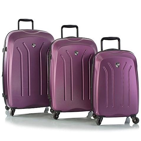 Heys stylist 3-piece 4-wheeled spinner luggage set 4-pc