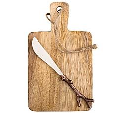Mango Wood Serving Board & Spreader