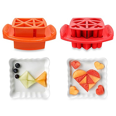 Funbites 2 piece shaped food cutter set in red hearts for Funbites