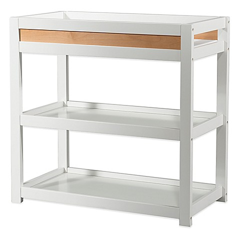 child craft soho changing table in white natural bed. Black Bedroom Furniture Sets. Home Design Ideas