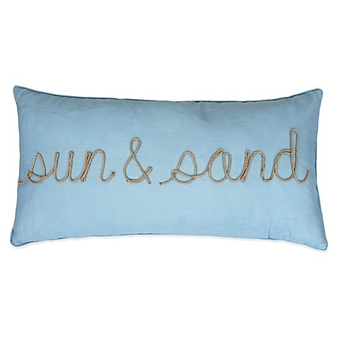 Sun & Sand Oblong Throw Pillow in Spa Blue - Bed Bath & Beyond