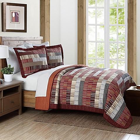 Brooklyn loom harvest yarn dye quilt in red for Brooklyn loom bedding