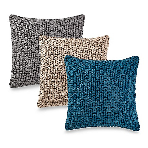 Bed Bath And Beyond Orange Throw Pillows : Kenneth Cole Reaction Home Chunky Knit Square Throw Pillow - Bed Bath & Beyond