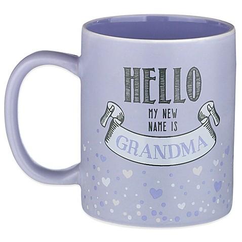 Buy grasslands road 12 oz hello my new name is grandma for Grasslands road mugs