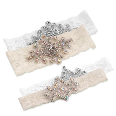 Lillian Rose™ 2-Piece Jeweled Garter Set