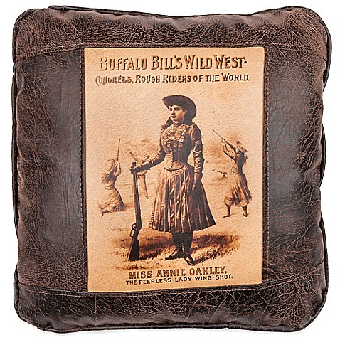 Buy Sweetwater Trading Company Annie Oakley Square Throw Pillow In Brown From Bed Bath Beyond
