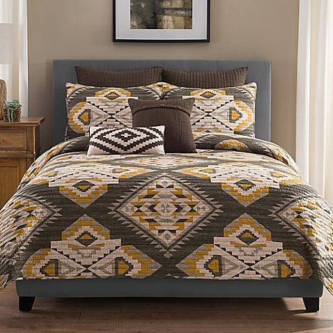Sierra Pillow Sham In Grey Gold Bed Bath Amp Beyond