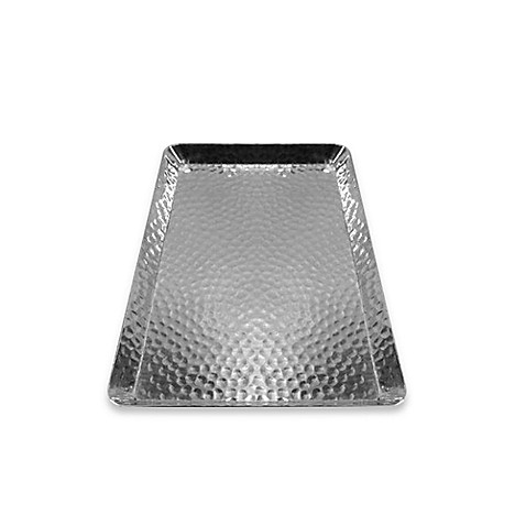 Buy hammered aluminum small rectangular vanity tray from - Bed bath and beyond bathroom vanity ...