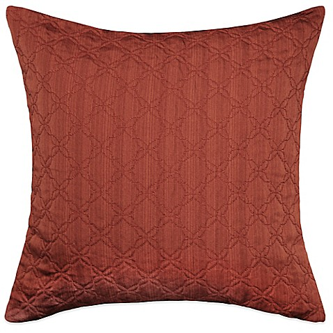 MYOP Simple Clover Square Throw Pillow Cover in Rust - BedBathandBeyond.com