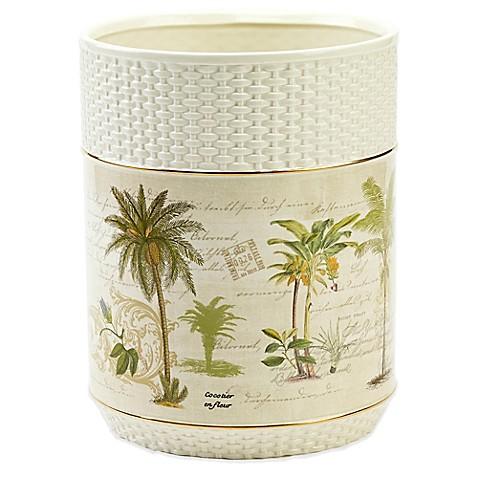 Avanti colony palm waste basket for Basket bathroom accessories