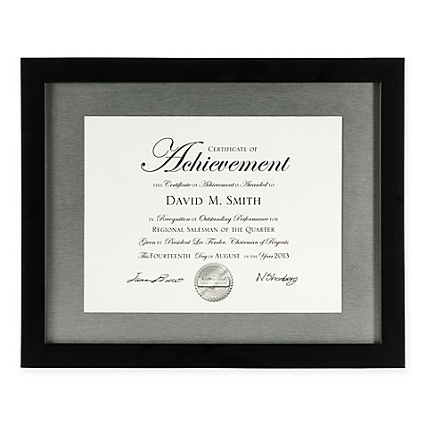 PhotoGuard 8.5-Inch X 11-Inch Wood Document Frame in Black at Bed Bath & Beyond in Cypress, TX | Tuggl
