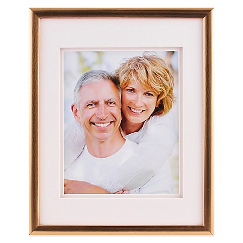 PhotoGuard® 8-Inch x 10-Inch Frame in Brushed Gold at Bed Bath & Beyond in Cypress, TX | Tuggl