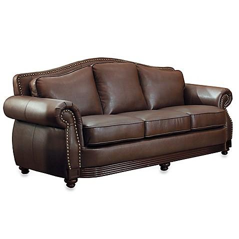 Verona Home Eaton Sofa In Brown Bed Bath amp Beyond