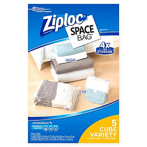 Ziploc® Space Bag® 5-Piece Cube Combo Set - Bed Bath & Beyond