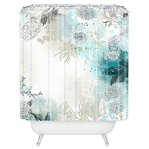 Deny Designs Iveta Abolina Seafoam Shower Curtain In White Bed Bath Beyond